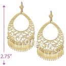 EL108 Gold Layered Long Earrings