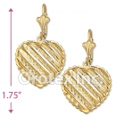 EL114 Gold Layered Long Earrings