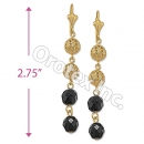 EL117 Gold Layered  Long Earrings