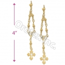 EL125 Gold Layered Long Earrings