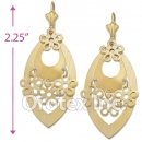EL132 Gold Layered Long Earrings