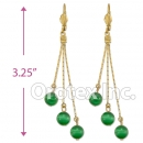 EL166 Gold Layered  Long Earrings