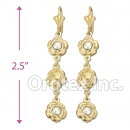 EL177 Gold Layered Pearl Long Earrings