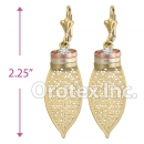EL216C Gold Layered CZ Tri-Color Long Earrings