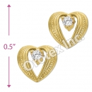 ES 019 Gold Layered CZ Stud Earrings