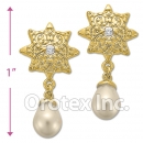 ES 027 Gold Layered CZ Stud Earrings