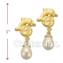 ES 031 Gold Layered Pearl Stud Earrings