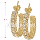 ES002 Gold Layered CZ Stud Earrings