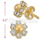 ES003 Gold Layered CZ Stud Earrings