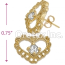 ES004 Gold Layered CZ Stud Earrings