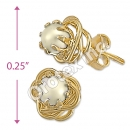 ES005 Gold Layered Pearl Stud Earrings