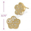 ES006 Gold Layered CZ Stud Earrings