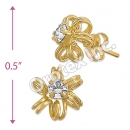 ES008 Gold Layered CZ Stud Earrings