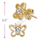 ES010 Gold Layered CZ Stud Earrings