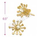 ES012 Gold Layered Pearl Stud Earrings