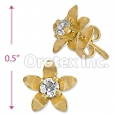 ES013 Gold Layered CZ Stud Earrings