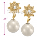 ES014 Gold Layered Pearl Stud Earrings