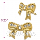 ES015 Gold Layered CZ Stud Earrings