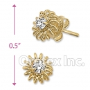ES022 Gold Layered CZ Stud Earrings