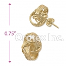 ES023 Gold Layered CZ Stud Earrings