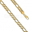 Orotex gold layered Figaro 3+1 Bracelet gauge 250
