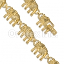 GFB2-13 Gold Layered Fancy W Bracelet