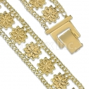 GFB2-17 Gold Layered Fancy W Bracelet