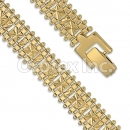 Orotex Gold Layered Fancy W Bracelet