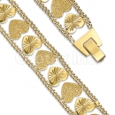 Orotex Gold Layered Fancy W bracelets