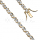 Orotex Gold Layered Fancy CZ W bracelets
