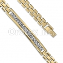 Orotex Gold Layered Fancy CZ W Bracelet