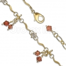 Orotex Gold Layered Fancy CZ W Anklet