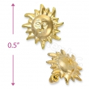 Orotex Gold Layered Stud Earrings