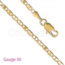 GFC2-10 Gold Layered Valentino Chain Gauge 050