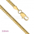 GFC2-12 Gold Layered Fancy Chain 3.0mm