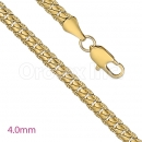 GFC2-13 Gold Layered Fancy Chain 4.00mm