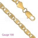 GFC2-20 Gold layered Valentino D.C. Yellow Gauge 100