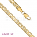 GFC2-5 Gold Layered Gucci Chain Gauge 150