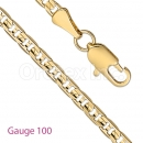 GFC2-7 Gold Layered Gucci Chain Gauge 065
