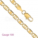 GFC2-8 Gold Layered Fancy Chain Gauge 100