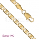 GFC2-9 Gold Layered Fancy Chain Gauge 100