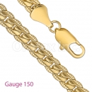 GFC3-3 Gold Layered Fancy Chain Gauge 150