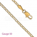 GFC3-4 Gold Layered Cuban Chain Gauge 050