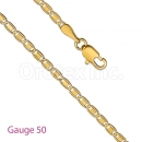 GFC3-5 Gold Layered Diamond Cut Valentino Chain Gauge 050