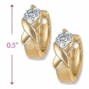 Orotex Gold Layered Fancy CZ Huggies Earrings