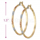 2mm Indian Gold Plated Tri-Color Hoop Earrings