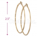 Orotex Gold Layered Hoop Bangle Earrings