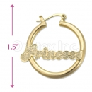 Orotex Gold Layered Name Hoop Earring