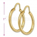 Orotex Gold Layered Hoop Earring