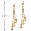 Orotex Gold Layered CZ Long Earrings